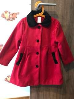 New Kid/ Girl's pretty red winter coat for sale !