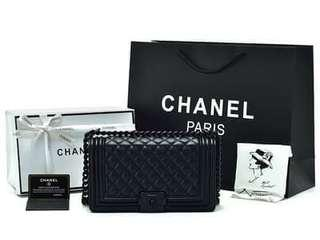chanel quilted black