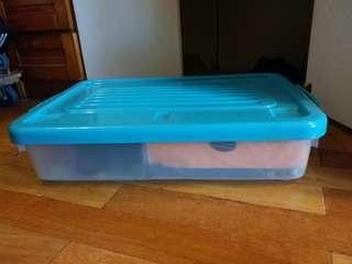 矮身儲物膠箱 plastic storage box