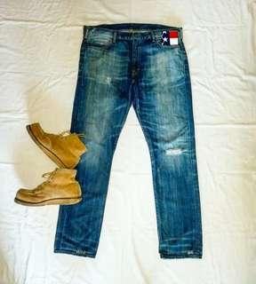 """(38"""" 腰圍) 哥倫比亞製Denim & Supply RL Damaged Vintage Wash Jeans"""