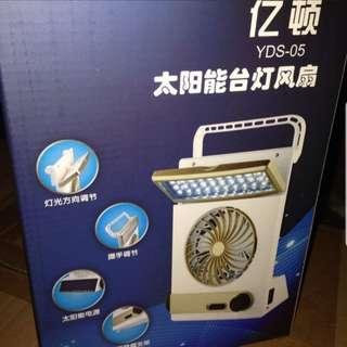 Portable Chargeable Camping Trekking Fan With Solar Charging Capabilities