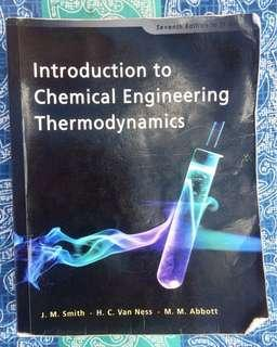 Introduction to Chemical Engineering Thermodynamics-Smith, Van Ness & Abbott-7th Ed