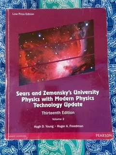 Sear's and Zemansky's University Physics With Modern Physics Technology Update - 13th Ed - Php 1000 (Volumes 1 & 2)