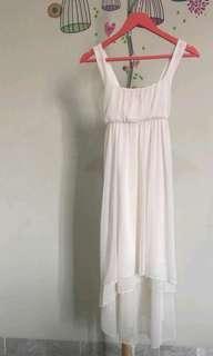White layers dress