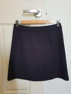 Pinstriped Business Skirt
