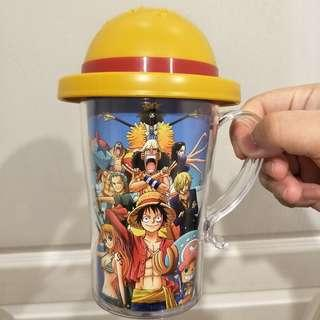 全新 日本正版One Piece 海賊王 航海王 草帽造型水杯 杯子 茶杯