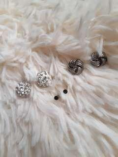 Stud Earrings Bundle with pouch