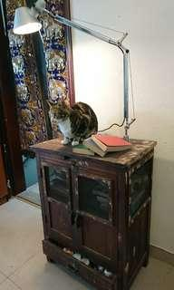 Artemide + vintage cabinet table