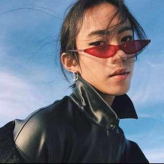 Women Fashion Small Frame Triangle Cat Eye Sunglasses