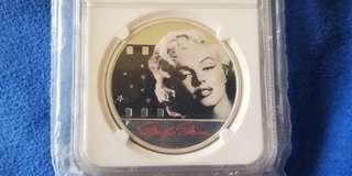 2012 Marilyn Monroe PF69 Proof 1 Oz Silver Coin