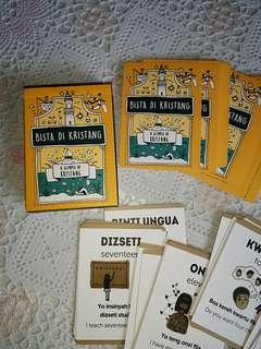 A Glimpse of Kristang, Bista di Kristang language play cards