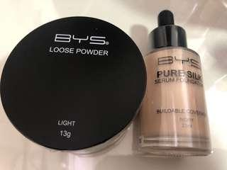 BYS Serum Foundation and Loose Powder