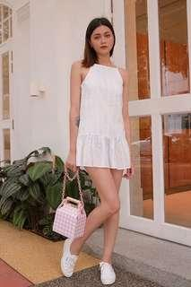 Kissablebella Clarins Eyelet Dropwaist Dress (White)