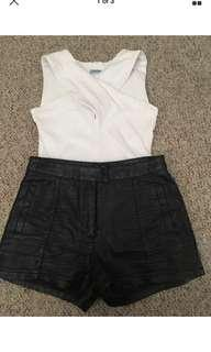 BARDOT leather shorts size 8