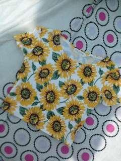 Croptop Sun Flower