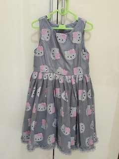 H&M kitty dress grey