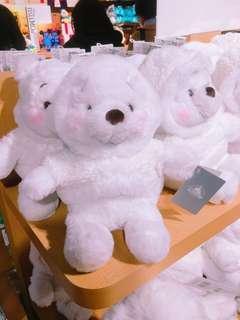 人在日本!限時代購!白色維尼S 聖誕