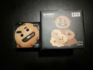 BT21 SHOOKY MUG & FACE CHARM