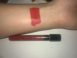 Super red, super long lasting lip paint