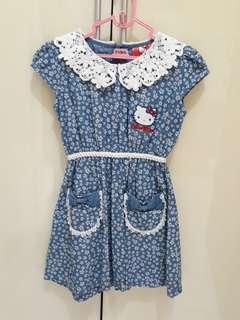 Dress HK flower blue