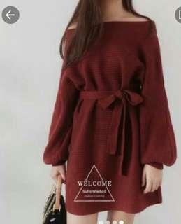 🚚 韓版時尚洋裝(紅色)