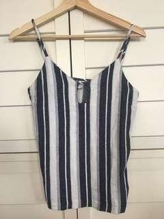 Women's striped top , beach vibe