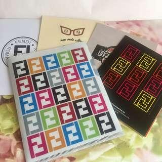 FENDI LIMITED EDITION FOLDER AND LUGGAGE STICKERS 贴纸
