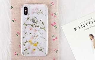 Korea floral transparent phone case