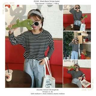 Black Basic Stripe (sale)