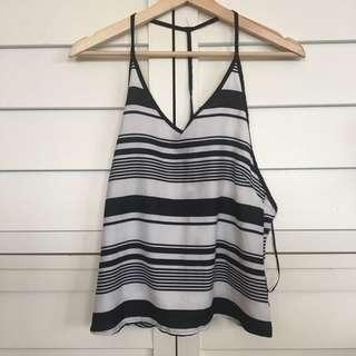 Silky stripes dressy top