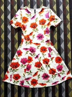 H&M Divided Sized 36 Flower Dress