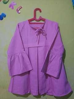 Blouse Pink/Atasan Pink/size L fit XL