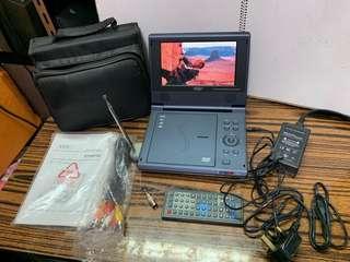7吋DVD電視機一套齊全 有皮袋