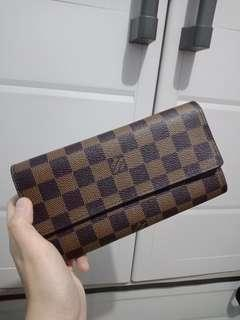 Authentic Louis Vuitton 3 folds long wallet