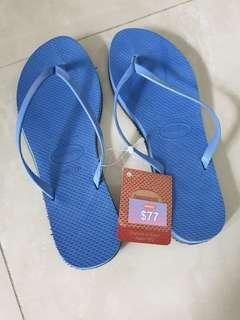 BNWT (Authentic) - Havaianas Slim Slipper in Blue