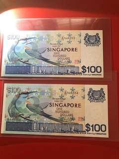 bird $100 two run A/20 546053-54(unc)