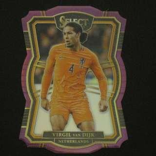 17/18 Panini Select Mezzanine Base Purple Die-Cut #/149 - Virgil VAN DIJK #Liverpool #Netherlands