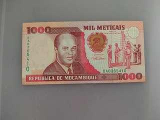 Mozambique 1000 meticais 1991 issue