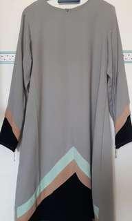 Grey Blouse Muslimah