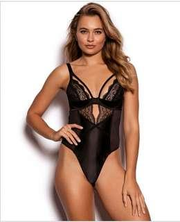 New!Black Jade Lace Bodysuit with removable suspenders RRP$79.99
