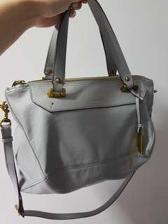 🔥CNY sale🔥 Rabeanco Alps Satchel in grey (full set)