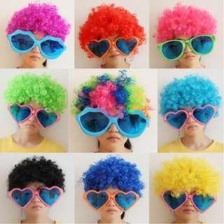 #EST50 Curly Clown Wig Halloween Funny Hair