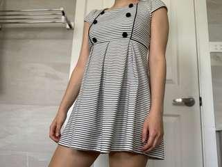 Forever 21 stripped black and white dress
