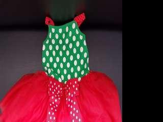 Merry Christmas Red Green Ribbon Dress