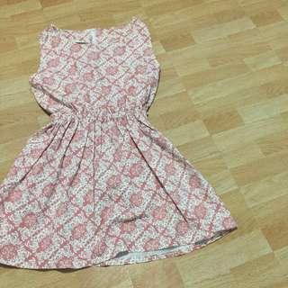 Old Rose Pink Patterned Dress