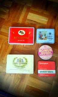 Old tin collection