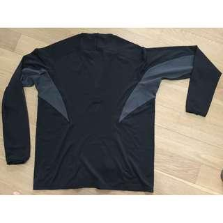 Nike Dri-Fit black zip-neck training top size L