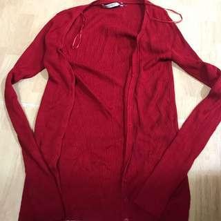 深紅色外套 全新