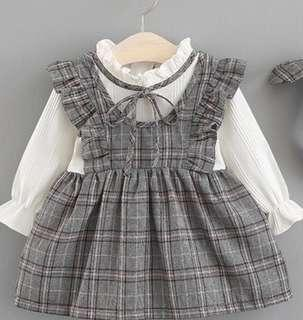 Baby girl Grey European style formal dress