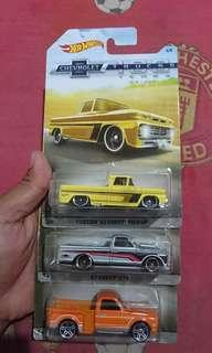 Hotwheels edisi chevrolet 100years trucks